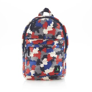 PUFFER BACKPACK REL_9 Red Blue Camo
