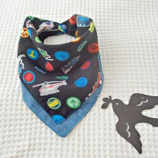 Baby Bib, Reversible, Baby Scarf Bib, Handkerchief, Baby Boy, Japanese Cotton