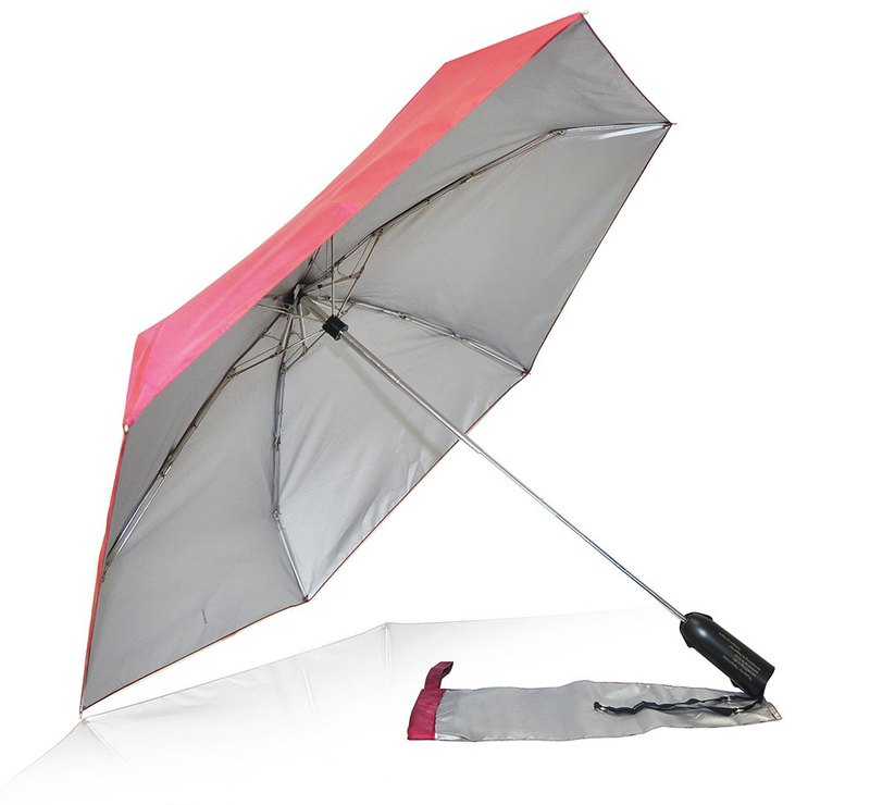Eco-Friendly Alycia Rain Umbrella Rasberry Red