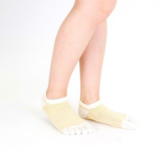 Panel pattern short 5toe socks