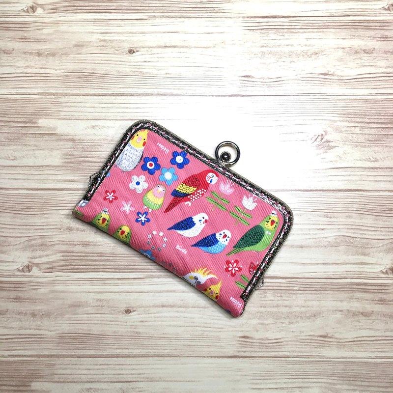 粉紅鸚鵡口金卡片夾/卡包/拍立得相本/免費聖誕包裝/交換禮物