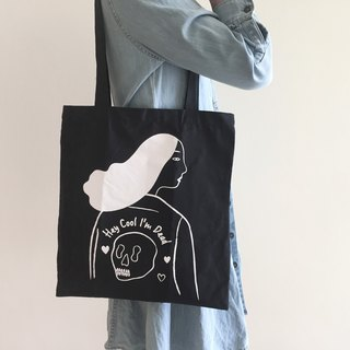 Hey Cool I'am Dead Tote (Black)