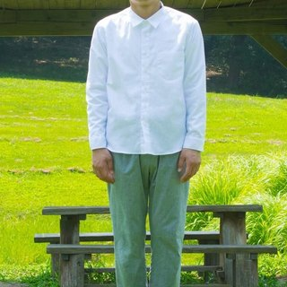 白色男用襯衫 MENS SHIRT bansyuori