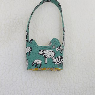 Prairie sheep cat ears with eco-friendly drink cup sleeve bag / double-sided available