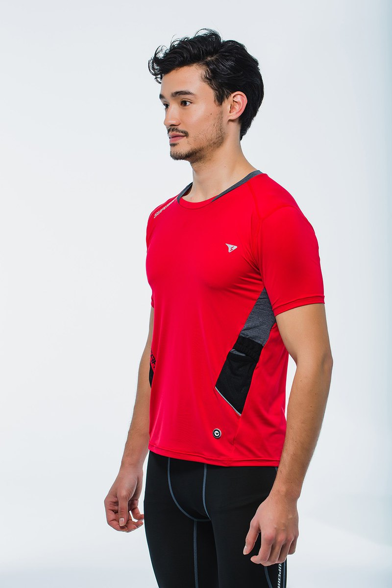【SUPERACE】SR-TRAIL MEN'S RUNNING TEE / RED