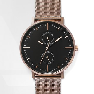 NEW! ROSE GOLD MG002 WATCH | MESH BAND + LEATHER BAND SET