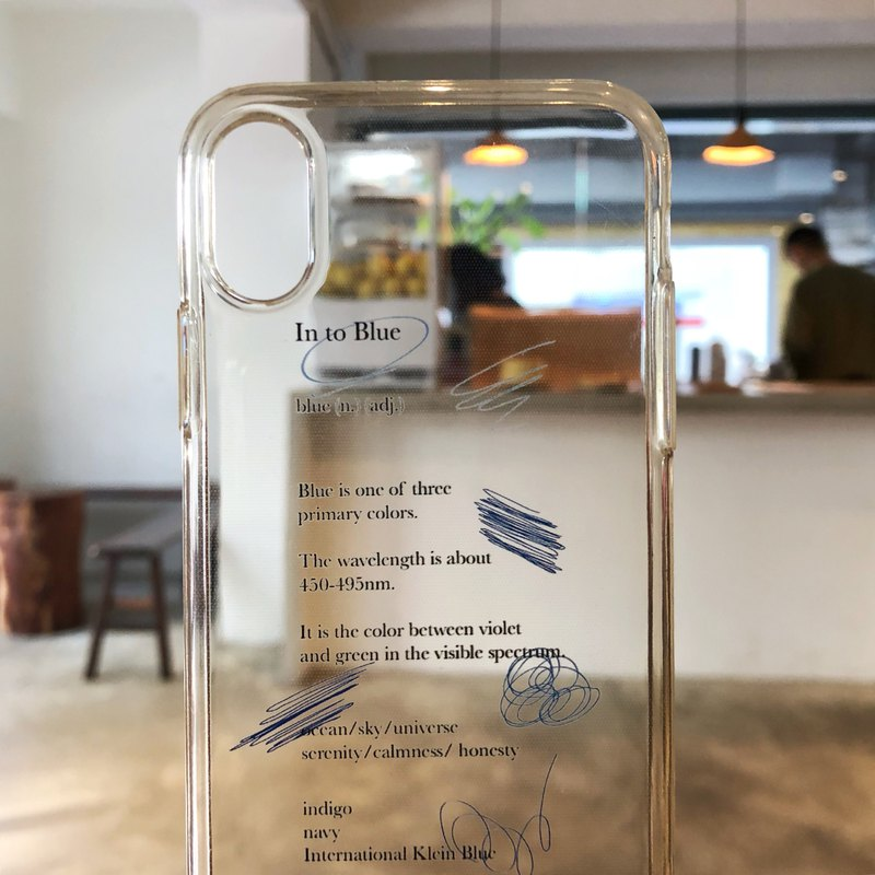 Into Blue/Soft Shell/Text Phone Case