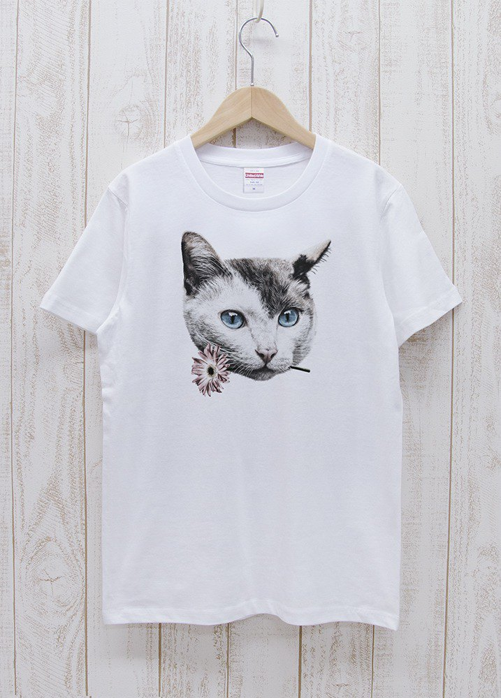 ronronCAT Tee Here you go ホワイト / R028-T-WH
