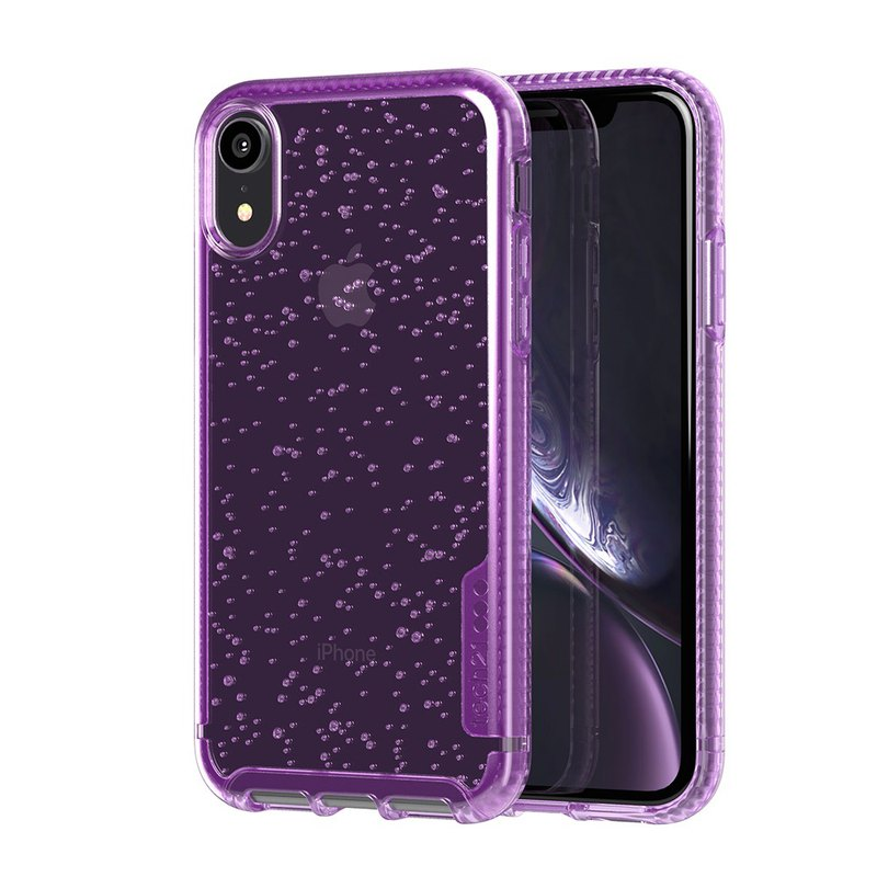 British Tech 21 anti-collision hard bubble protective case - iPhone XR-紫 (5056234705414)