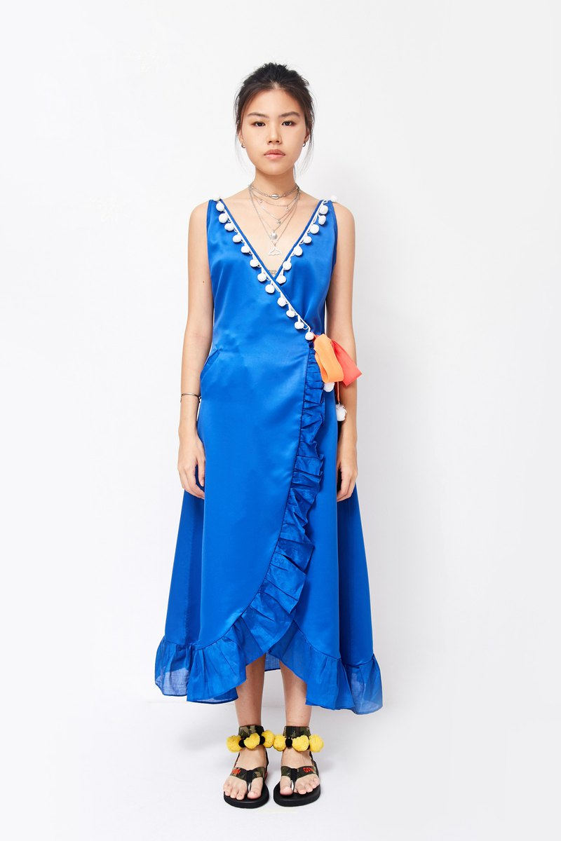 Mayu Maxi Dress - BLUE (Mayu Blue Long Dress)