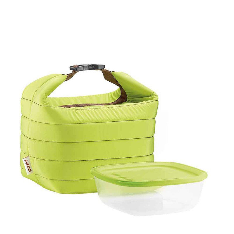 22cm picnic bag lunch bag - lime green
