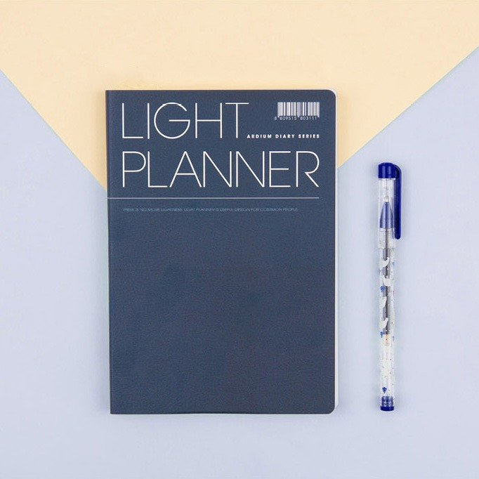 2018 ARDIUM LIGHT PLANNER Calendar / Account - Navy
