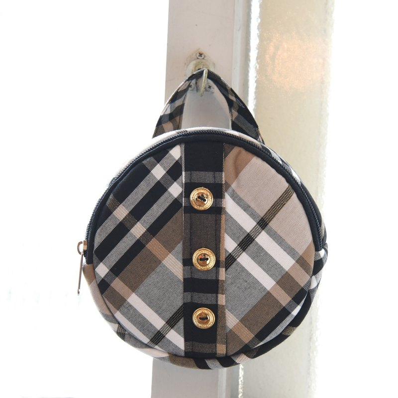 Pet Accessory for Harness -  Tartan Circle Backpack【ZAZAZOO】