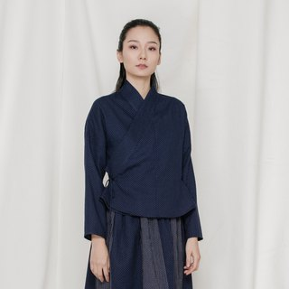 BUFU indigo traditional Chinese shirt SH171123