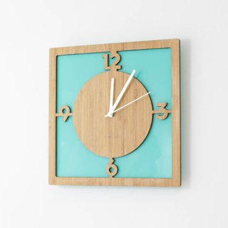 Homeloo bamboo wall clock mute |. Green Party
