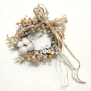 Mini Dry Wreath - Marshmallow Series