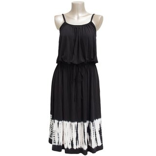 Tie Dye camisole browsing dress <Black>