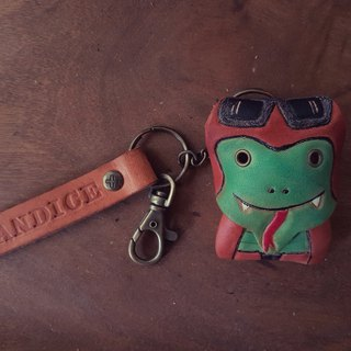 Pilot Little Snake cute snake leather key ring - can lettering (Valentine, birthday gifts)