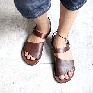 OMAKE Full Cowhide Flap Sandals