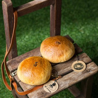 [For hand-made wool felt] red bean bread small purse - outside diameter of about 10.5cm - hand money