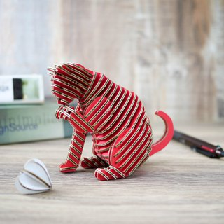 SORRY CAT/3D Craft Gift/DIY/Red