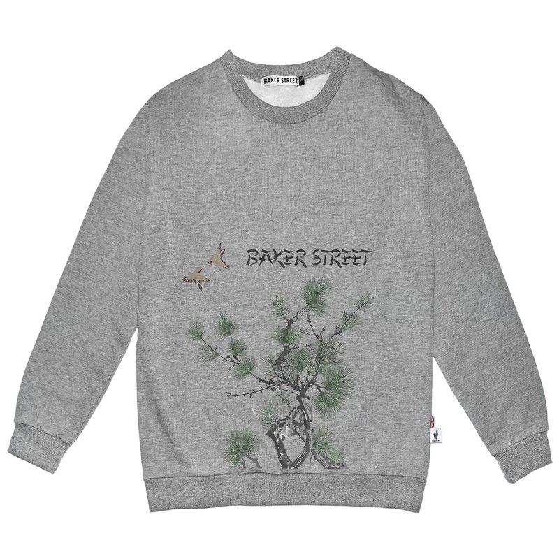 British Fashion Brand -Baker Street- Image of East Printed Sweatshirt