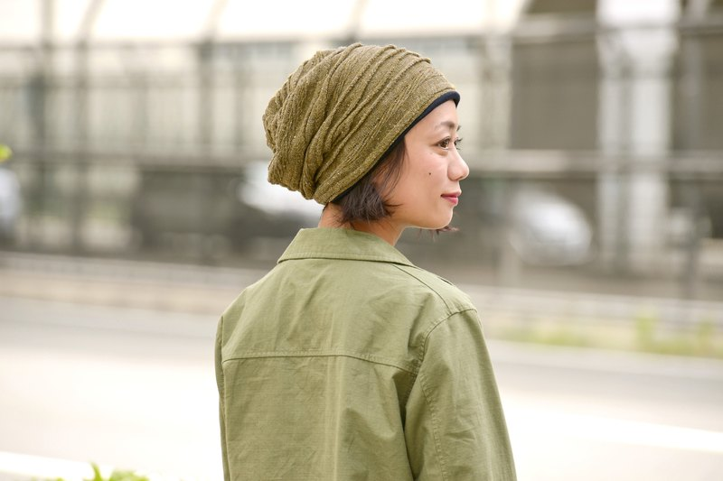 Made in JAPAN 100% Organic Cotton Warm Slouchy Beanie