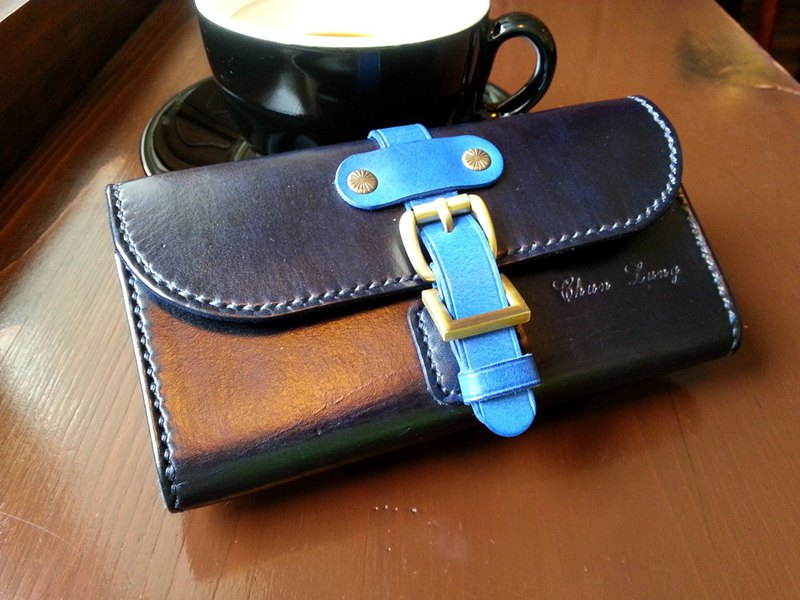Real leather hand made mobile phone pocket phone bag mobile belt can be customized to print English letters