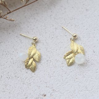 Moonstone Earrings 1106 - Lucky