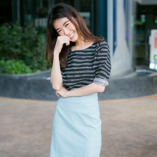 Stripe 3/4sleeve top
