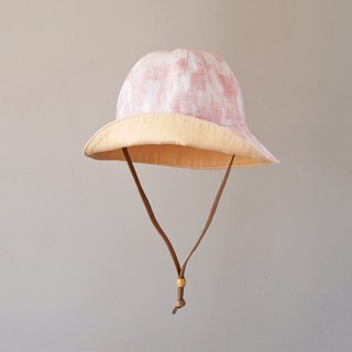 Yarn-dyed camouflage pink thin children's visor
