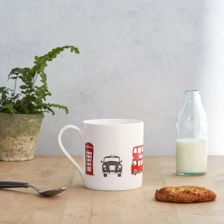 English egg mug London skyline