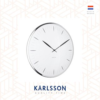 (預售) Karlsson, Wall clock Blade Numbers metal white
