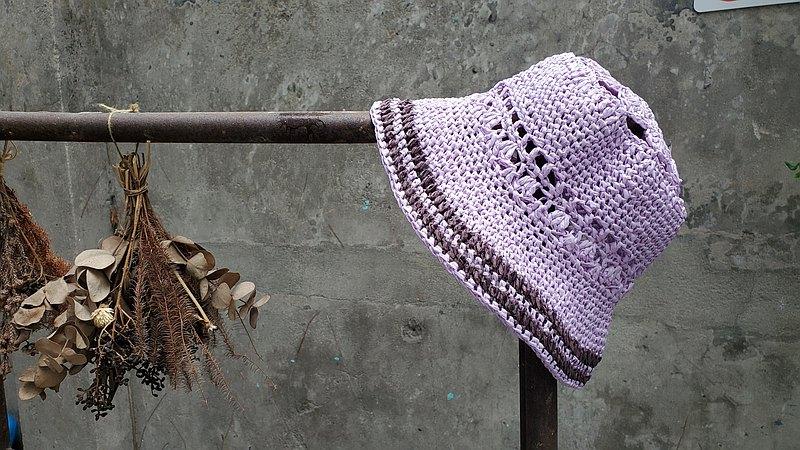 手織草帽-紫丁香