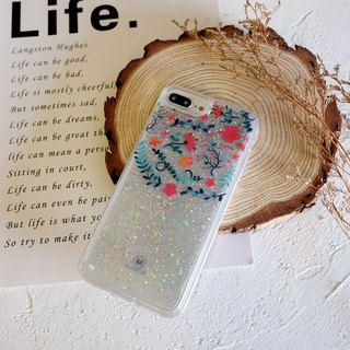 PATTERN LAB | Liquid Glitter Case for iPhone 8/7/6s Plus - Flowers