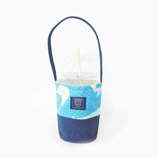Beverage bag - primary color bright geometric pattern random