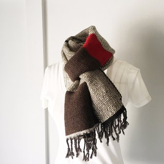 "Unisex hand-woven scarf ""Gray & Brown Mix"""