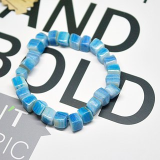 Classic Style_ Natural Stone Bracelet_Blue White Bay