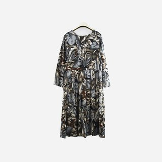 Dislocation vintage / animal jungle print dress no.928 vintage