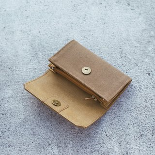 Handmade Canvas Purse-latte color