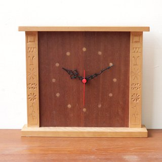 Swedish family woodcarving eucalyptus handmade clock