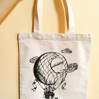 Fat sister hot balloon canvas bag