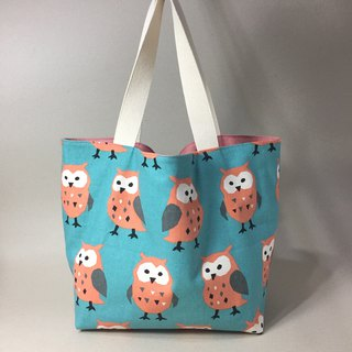 adoubao-sided shopping bag green bag shoulder bag - Green Bi x owl