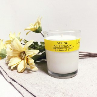 Spring Day Afternoon Essential Oil Soy Candle (Small) Sweet and nectarine to remove musty moisture