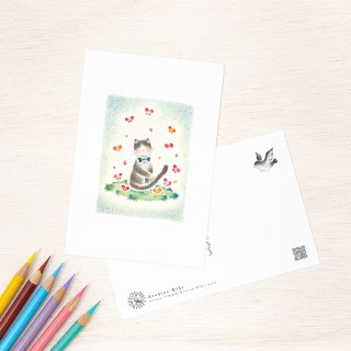 "4 pieces set. Like a picture book. Postcard ""Mother of Mother of Cats Feelings"" PC-143"