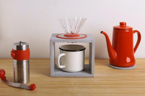 Rectangular hand punch coffee stand