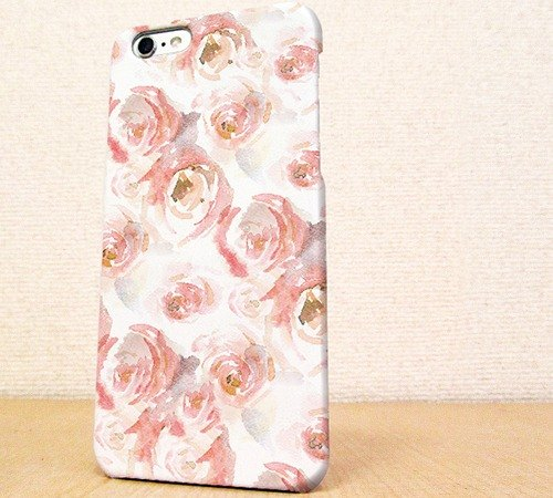 (Free shipping)iPhone case GALAXY case ☆ Water color of roses