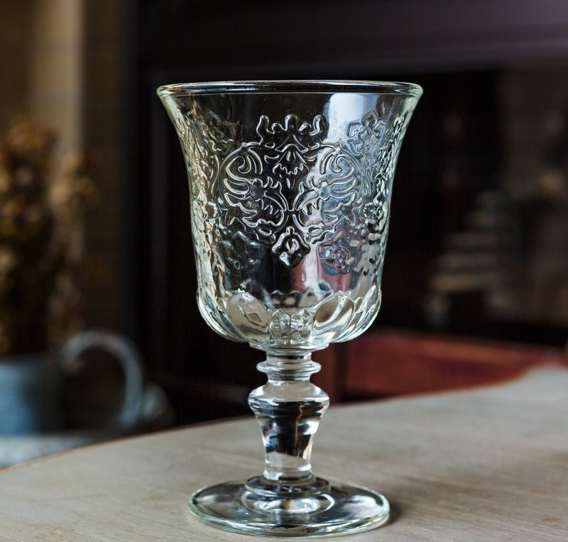 Pattern glass goblet