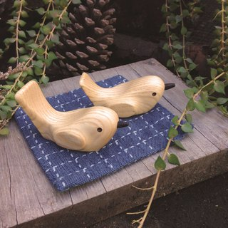 Wooden chopsticks frame pillow bird in hand tied to happiness tied wooden handmade wood