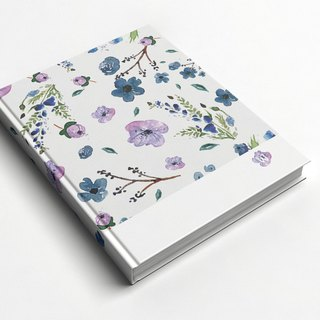 Rococo Strawberry WELKIN Handmade _ Handmade Book / Notebook / Pocket Journal / Diary - Purple Flower Rain